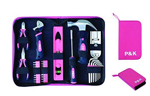 35 teiliges pink Werkzeugset Werzeug in Etui
