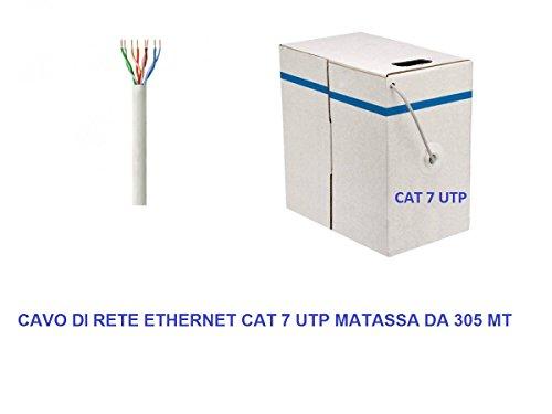 My smart shop MATASSA 305 MT Metri Cavo di Rete UTP Cat 7 LAN ETHERNET M Bobina Internet ADSL Plug Modem Router Access Point REAPETER