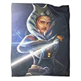 Manta de invierno WarmStar War Ahsoka Tano Take The Sword vista frontal manta de verano para sofá de 180 x 230 cm