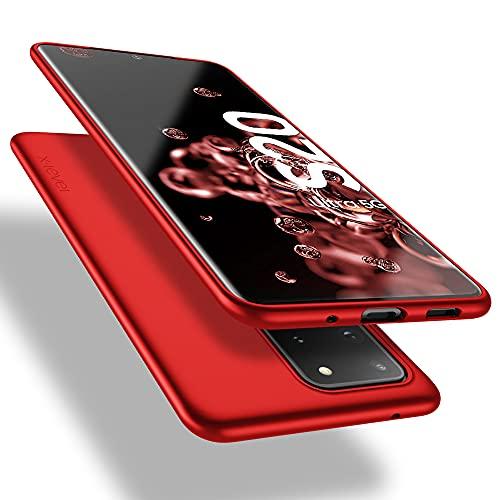 X-level Samsung Galaxy S20 Ultra Hülle, [Guardian Serie] Soft Flex TPU Hülle Superdünn Handyhülle Silikon Bumper Cover Schutz Tasche Schale Schutzhülle für Samsung Galaxy S20 Ultra 5G - Rot
