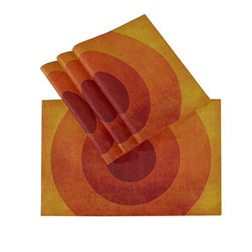 DUKAI Juego de manteles Individuales de 4, tapetes Lavables con Aislamiento termico, Fondo Retro Vintage 18 x 12 Pulgadas manteles de Cocina manteles Individuales para Mesa de Comedor