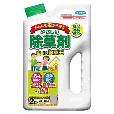 フマキラー除草剤虫よけ除草王2L×3個食品成分生まれの除草成分配合