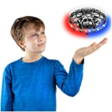 Force1 Scoot LED Hand Operated Drone for Kids or Adults - Hands Free Motion Sensor Mini Drone, Easy Indoor Small UFO Toy Flying Ball Drone Toys for Boys and Girls (Gray)