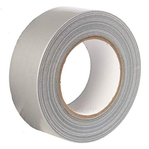 Gocableties - Rollo de cinta adhesiva americana de alta calidad, resistente, color plateado y gris (48 mm x 50 m)