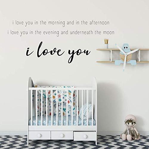 Skinamarinky Dinky Dink Song Lyrics 'I Love You' Vinyl Wall Quote | Baby's Nursery or Bedroom Home Decor | Large, Medium and Small Sizes Available | Boy Blue, Girl Pink, Other Colors