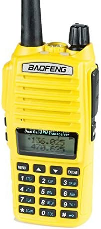 BaoFeng UV-82HP (Yellow) High Power Dual Band Radio: 136-174mhz (VHF) 400-520mhz (UHF) Amateur (Ham) Portable Two-Way