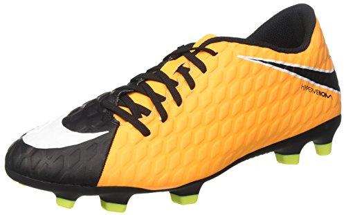 Nike Hypervenom Phade III FG, Botas de fútbol para Hombre, Naranja (Laser Orange/Black/Black/Volt/White), 42.5 EU