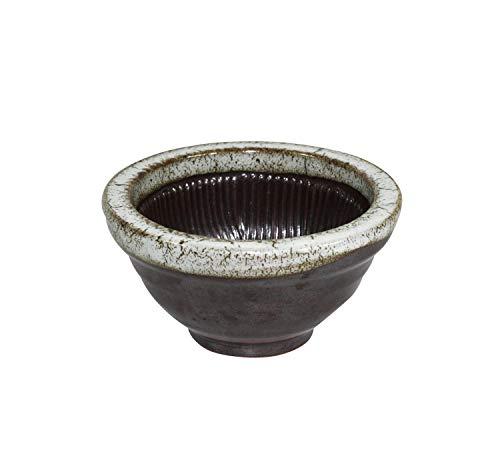 DH corp - Mörser und Stößel Set aus feinem Porzellan Gewürzmühle und Tablettenzerkleinerer mit Holzgriff