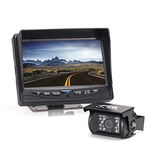Rear View Safety Full HD Backup Camera System with 7' Monitor for RV, Truck, Bus and...