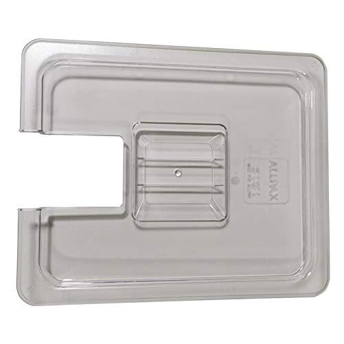 Deckel für ALLPAX GN Behälter 1/2 aus Polycarbonat (transparent) - mit Ausschnitt - passend für ALLPAX Sous Vide Garer SVU und ALLPAX Sous Vide Garer SV3 App