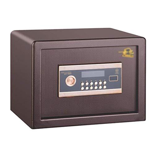XiYou Caja Fuerte de Seguridad, casillero de contraseña Grande para Oficina pequeña en el hogar Fuego con Puerta Interior (marrón, 30 * 37,5 * 30 cm)