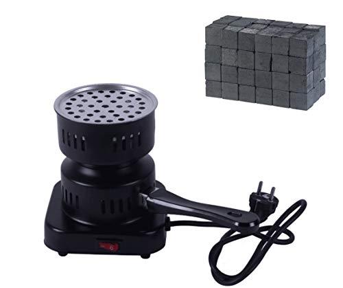 DIAMOND HOOKAH Premium Shisha Kohleanzünder elektrisch für Shisha Kohle + 1KG Kohle, Kohlen Ofen, Kohlenanzünder elektrisch - 450 Watt