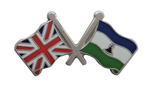 1000 drapeaux lesotho et drapeau du Royaume-Uni
