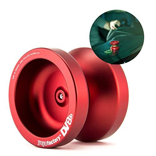 YoyoFactory DV888 Profi Metall Yo-Yo Mit Kugellager & Schnur - ROT (Ideal für Anfänger, Moderne Leistung Yoyo, Schnelle Rotation Metall Kugellager, Schnur und Anleitung Enthalten)