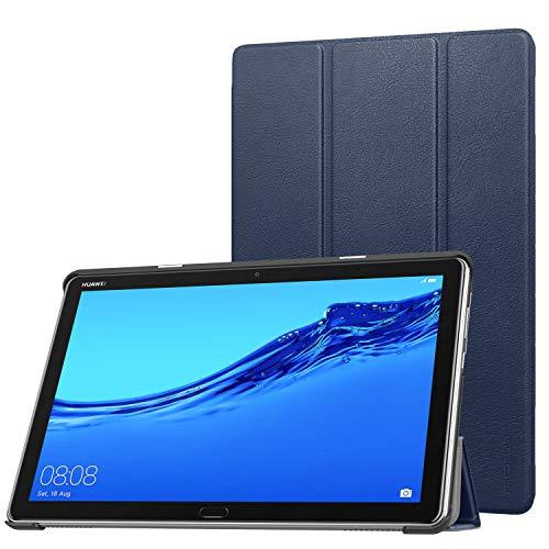 MoKo Hülle für Huawei MediaPad M5 Lite 10, Ultra Slim PU Leder Tasche Schutzhülle Smart Hülle mit Auto Sleep/Wake up Funktion & Standfunktion für Huawei MediaPad M5 Lite 10
