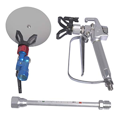 GDHXW W-079 Airless Paint Spray Gun High Pressure 3600 PSI 517 TIP Swivel Joint with 10 inches Extension Pole Spray Guide Accessory Tool for Graco Wagner Titan Sprayer