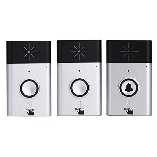 XZ15 draadloze deurintercom, niet-visueel draadloos intercomsysteem, deurbel, Villa thuis, draadloze intercominstallatie, deurbel, pager zilver