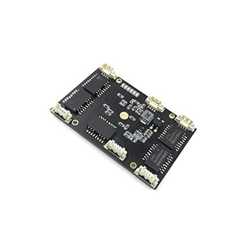 IGOSAIT Interruptor Ethernet industrial personalizado de 5 puertos 10/100 m no administrado 12 V PCBA módulo switch 5 puertos 10/100 M (color : 5 puertos)
