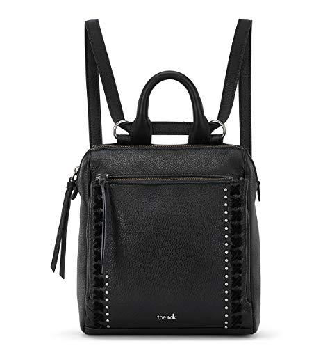 the sak unisex adult Women's Loyola Leather Mini Backpack, Black, One Size US
