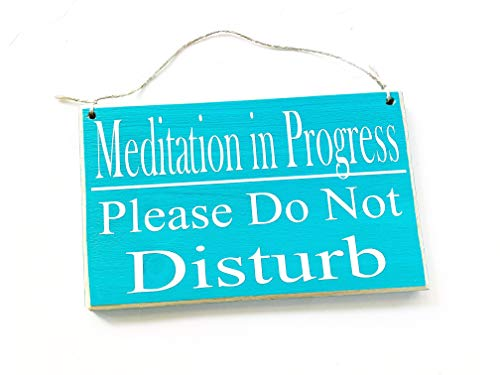 8x6 Meditation in Progress Please Do Not Disturb Custom Wood Sign in Session Shhh Yoga Relaxation Meditate Om Zen Quiet Please Door Plaque