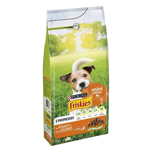 Friskies Vitafit Mini menú: Pollo y Verduras añadidas – 2 kg – Pienso para Perro Adulto pequeño – Lote de 6 ✅