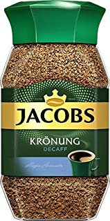 Jacobs Kronung Decaf Instant Coffee 100 Gram / 3.52 Ounce (Pack of 2)