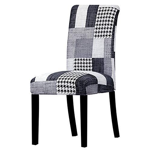 YANJHJY Impresión de Fundas para sillas Fundas para sillas elásticas extraíbles y Lavables Funda Protectora para Asiento, para Comedor, Hotel, Banquete, hogar, K900,2 PC