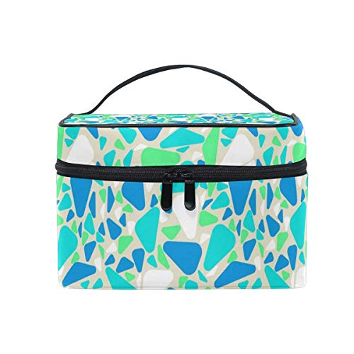 Bolsas de cosméticos Travel Makeup Cosmetic Bags Retro Geometric Puzzle Toiletry Bags Makeup Suitcase For Women Travel Daily Carry