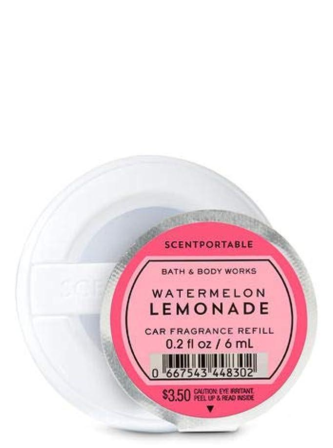 湿気の多い怒っている押す【Bath&Body Works/バス&ボディワークス】 クリップ式芳香剤 セントポータブル詰替えリフィル ウォーターメロンレモネード Scentportable Fragrance Refill Watermelon Lemonade [並行輸入品]