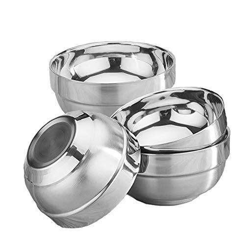 BeGrit 4er Set Edelstahl Schalen 13cm Premium Edelstahl Schüsselset Servierschüssel stapelbar für die Küche Multifunktional Suppenschalen Müslischale Salatschüssel