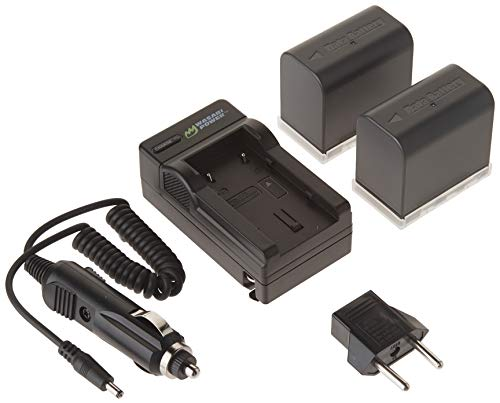 Wasabi Power Battery and Charger Kit for JVC BN-VF823, BN-VF823U and JVC Everio GS-TD1, GY-HM70U, GY-HM100U, GY-HM150U, GZ-HMZ1U, GZ-MG230, GZ-MG255, GZ-MG275, GZ-MG330, GZ-MG335, GZ-MG340, GZ-MG360, GZ-MG365, GZ-MG430, GZ-MG435, GZ-MG465, GZ-MG555, GZ-MG575, GZ-MG630, GZ-MG650, GZ-MG670, GZ-MG680, GZ-MG730, GZ-MS100, GZ-MS120, GZ-MS130, GZ-HD3, GZ-HD5, GZ-HD6, GZ-HD7, GZ-HD10, GZ-HD30, GZ-HD40, GZ-HD300, GZ-HD320, GZ-HM1, GZ-HM200, GZ-HM400, GZ-X900r