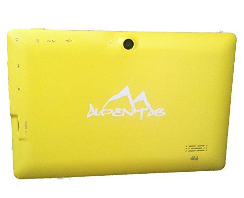 AlpenTab TB7ABG 7 AB 17,8 cm (7 Zoll) Tablet-PC (Allwinner A13 Prozessor, 1,5GHz, 512MB RAM, 4GB SSD, USB 2.0, Android OS) gelb