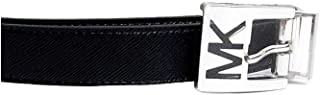 MICHAEL Michael Kors Reversible Faux Leather Belt with MK Logo Buckle