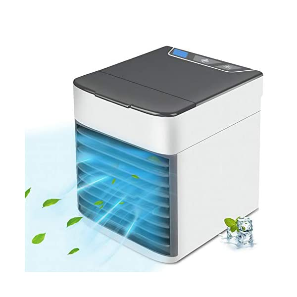 Personal Air Conditioner, Quiet USB Air Cooler with 3-Speed, Mini Air Conditioner...