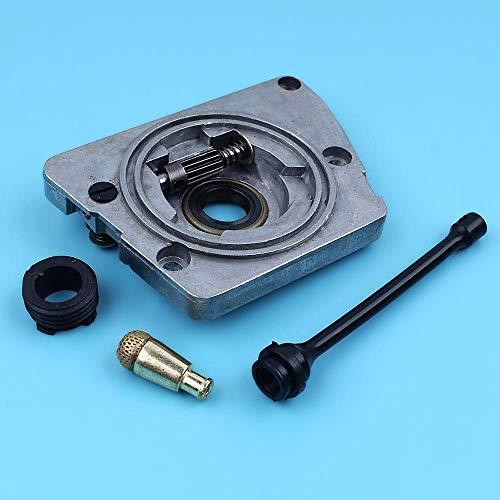 Kit de engranaje helicoidal engrasador de bomba de aceite compatible con Husqvarna 266268272 268XP 272XP 61 66 Motosierra 501 51 25-01 501 51 38-01