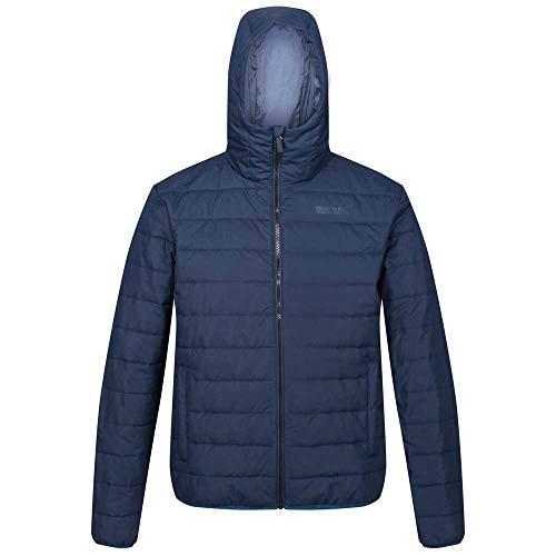 Regatta Helfa Veste matelassée à capuche Homme Légère, Déperlante et isolante Baffled/Quilted Jackets Homme Bleu (Nightfall), M