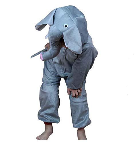 Niños Disfraces de Animales Niños Niñas Unisex Disfraces Cosplay Niños Onesie (Elefante, M (para niños de 90 a 105 cm de Altura))