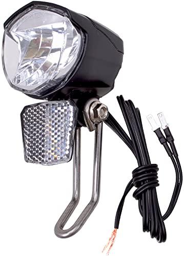 P4B   LED Fahrradlicht für Dynamo / Nabendynamo - 70 Lux   Fahrradbeleuchtung vorne mit Schalter (ON/AUT./Off)   Mit Reflektor und Standlichtfunktion   StVZO zugelassen