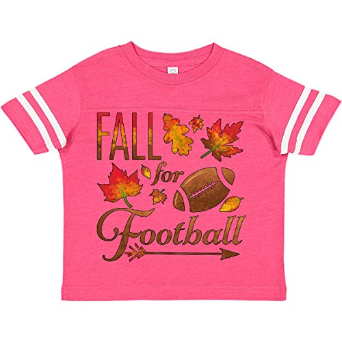 inktastic Fall for Football Toddler T-Shirt 5-6 Football Pink and White 2c161