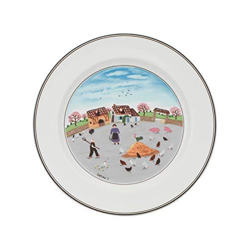 Villeroy & Boch 10-2337-2624 Assiette Plate Porcelaine Bleu 29,2 x 29,2 x 8,5 cm 1 Assiette