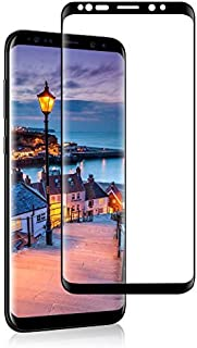 Samsung Galaxy S9 plus Screen Protector Tempered Glass Curved Full Coverage by Meidom - Black