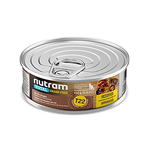 Nutram Cat Grain Free Chicken and Turkey Cans 24x156gm