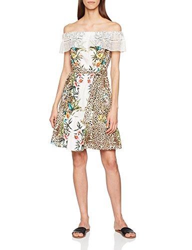 Liu Jo Damen Better Kleid, Mehrfarbig (Safari Flowers V9244), 38 (Herstellergröße: 44)