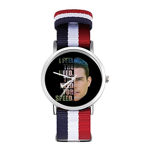 Top Gun Maverick - Reloj trenzado con correa de media cabeza con texto en inglés