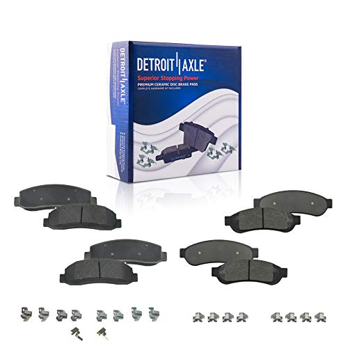 Detroit Axle - Front & Rear Ceramic Brake Pads...