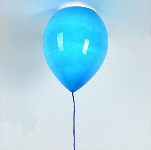 Moderno sombra Niños Espacio, Fiesta, Festival,globos de color Lámpara , Lámpara de techo,1 x E27,Ø 25 cm, 6 color (Amarillo, Azul, Color blanco, naranja, rojo y verde)