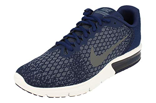 Nike Air Max Sequent 2 Mens Running Trainers 852461 Sneakers Shoes (US 8.5, Binary Blue Dark Grey 406)