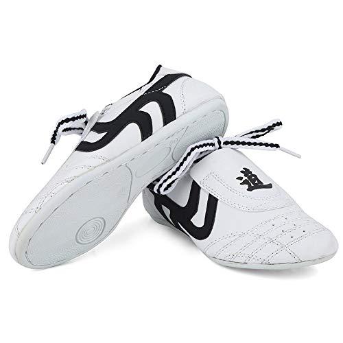 Zapatos de Taekwondo, Artes Marciales, Zapatillas de Deporte, Karate, Kung fu, Zapatos de Tai Chi. Zapatillas de Rayas Negras.(31)