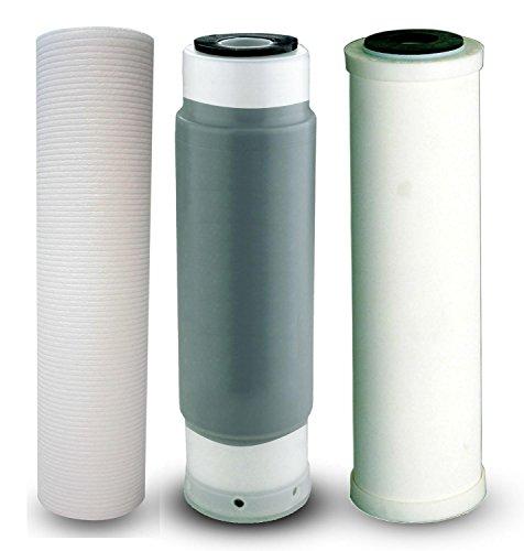 Filterset/Ersatzfilterset 3-fach z.B. für Filteranlage SEDIBAKT Wasserfilter Trinkwasserfilter Osmose Keimfilter Bakterienfilter Reisefilter Filterkartusche Filterpatrone 10 Zoll