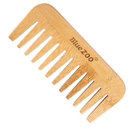 Rrunzfon Breite Zahnkamm Grifflos Haarbürste Männer Öl Haare kämmt Holz Styling Haarbürste für lockiges Haar Nasser trockenes Haar Anti-Statik & Hitzebeständiges